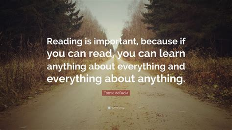 tomie depaola quote reading  important