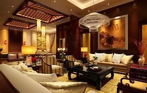 Divine Asian Living Room Interior Design Idea With Sofa ...