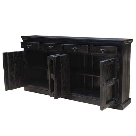 Black Sideboard Buffet by Black Solid Wood Kansas 82 Quot Server Buffet Dining
