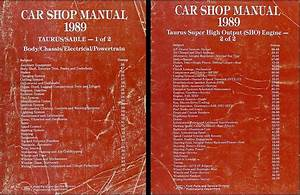1989 Ford Taurus Mercury Sable Repair Shop Manual Original