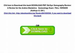 Download Pdf Ob  Gyn Sonography Review  A Review For The Ardms Obstetr U2026