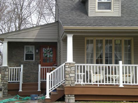 side porches side entry and front porch with work pavers