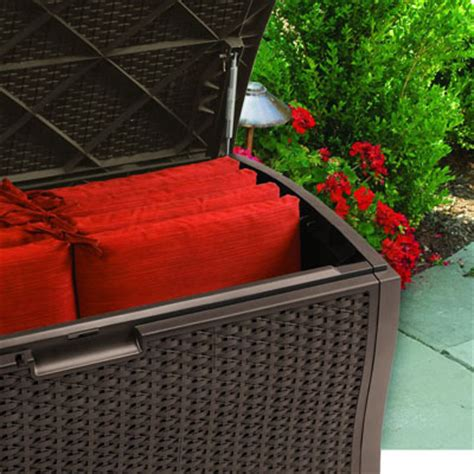Suncast Rattan Deck Box Dbw9935 by Suncast Dbw9935 Plastic Rattan Deck Box