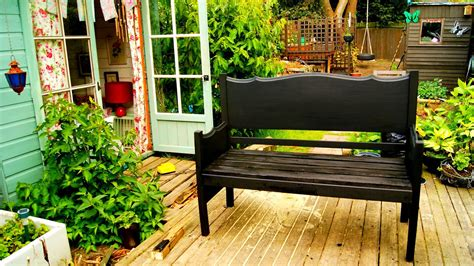 Bed Into Bench by Turn Your Bed Into A Garden Bench The Syders