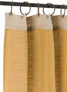 Rideau Toile De Jute : jute rideau en toile ocre ~ Farleysfitness.com Idées de Décoration