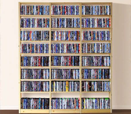 Dvd Bookcase by Dvd Bookcase Plans Shelving Systems Dvd Shelves Dvd
