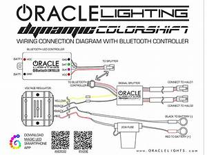 Oracle Dynamic Colorshift Headlight Halo Kit 2010