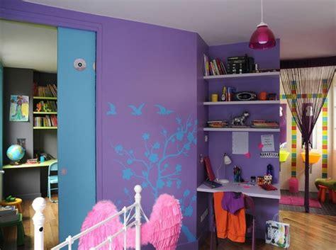 chambre fille bleu et violet choix peinture chambre