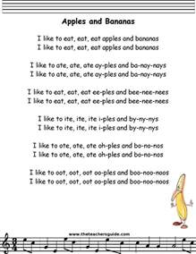 Morning Star Nursery by Apples And Bananas Lyrics Printout Midi And Video
