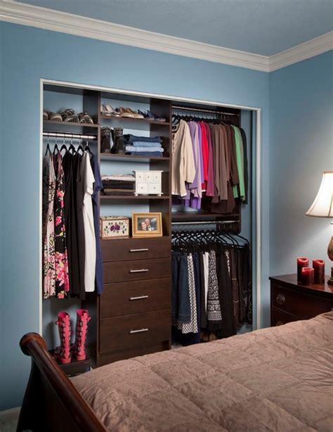 reach in closet organizers chocolate pear