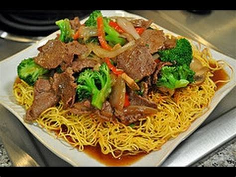 recipe  pan fried noodles  beef broccoli world