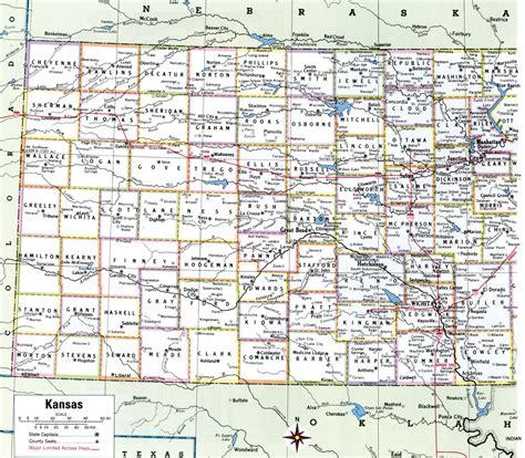 map  kansas counties  cities  travel information