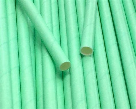 mint green solid paper straws mint green mint green