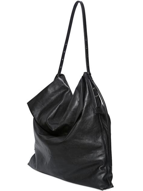 rick owens leather hobo bag  black lyst