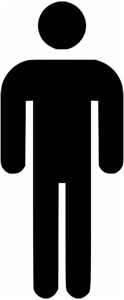 Person Silhouette Icon Clipart Bathroom Transparent Clip