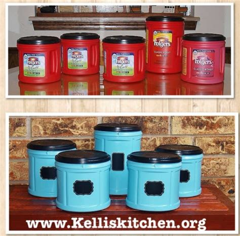 Fabulous folger's coffee plastic container upcycle. 30 Crafty Repurposing Ideas For Empty Coffee Containers - DIY & Crafts