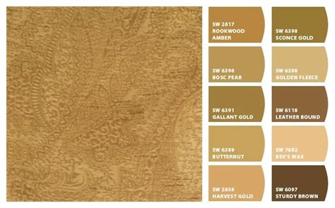 caramel paint color sherwin williams caramel tones hues color palette inspiration chip it by