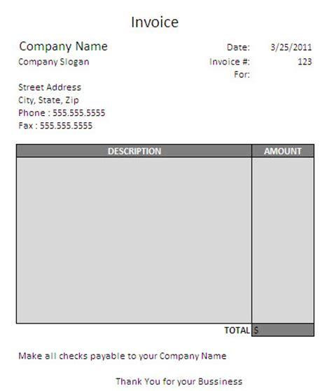 Independent Contractor Invoice Template