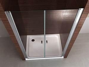 paroi porte de douche pour douche en niche ex218 en verre With porte douche battant verre