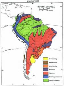 South America Agriculture Map