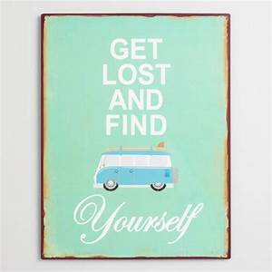 Get Lost and Find Yourself Metal Wall Art | World Market