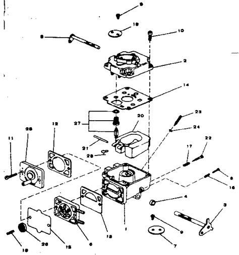 Onan Carb Diagram by Onan Engine Carburetor Parts Model Bf Ms2833d