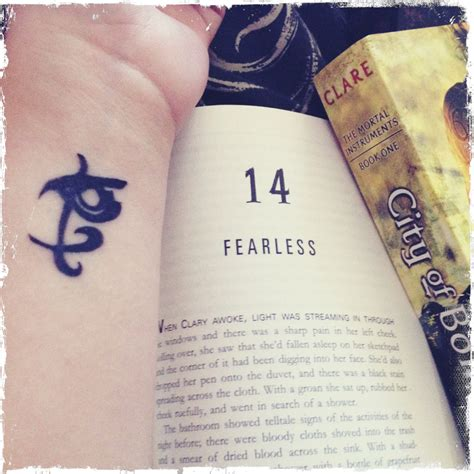 The Mortal Instruments Tattoos  City Of Ashes Fearless