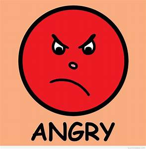 Anger is a feeling card message  Angry
