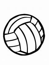 Volleyball Coloring Pages Colored sketch template