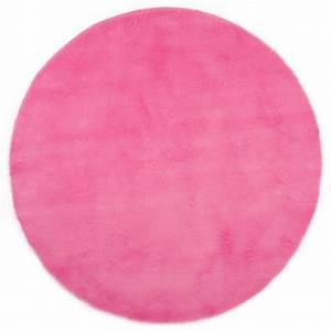 Tapis Rose Fushia : tapis enfant pilepoil rond rose fushia d 140 cm fausse fourrure ~ Teatrodelosmanantiales.com Idées de Décoration