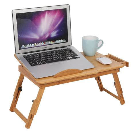 adjustable portable laptop table stand adjustable computer desk portable bamboo laptop folding