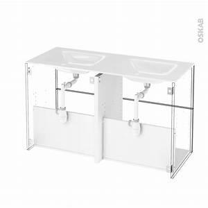 meuble salle de bains n722 double vasque vala 4 tiroirs With meuble salle de bain double vasque 4 tiroirs