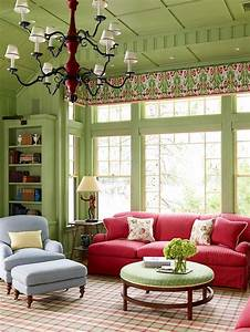 Rotes Sofa Welche Wandfarbe : 15 green living room design ideas ~ Bigdaddyawards.com Haus und Dekorationen