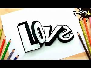 DIBUJOS LOVE││How to draw love 3D letters /Como dibujar Amor 3D YouTube