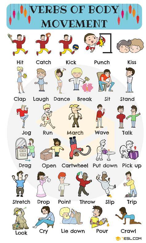45+ Common Verbs Of Body Movement In English  7 E S L