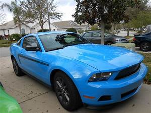 My 2012 Grabber Blue Mustang Club of America edition | Blue mustang, Mustang club