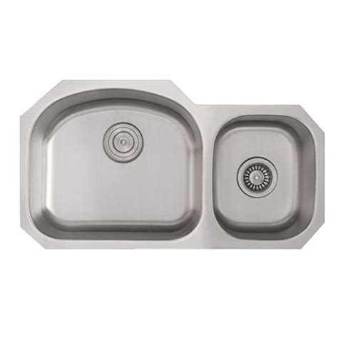 60 40 stainless steel sink 32 inch stainless steel undermount double 60 40 d bowl