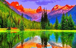 Colorful Mountains hd wallpapers