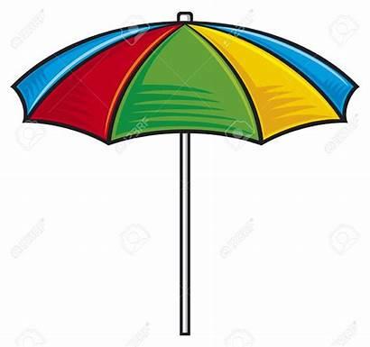 Clipart Sunshade Umbrella Illustration Beach Colorful Seashell