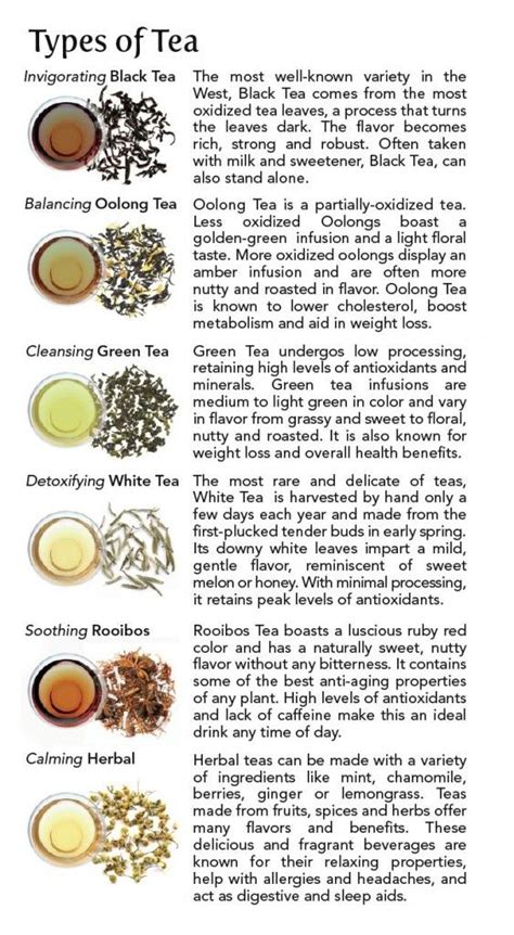 Different Kinds Of by Different Types Of Tea Tea 101 Types Of Tea Tea Time