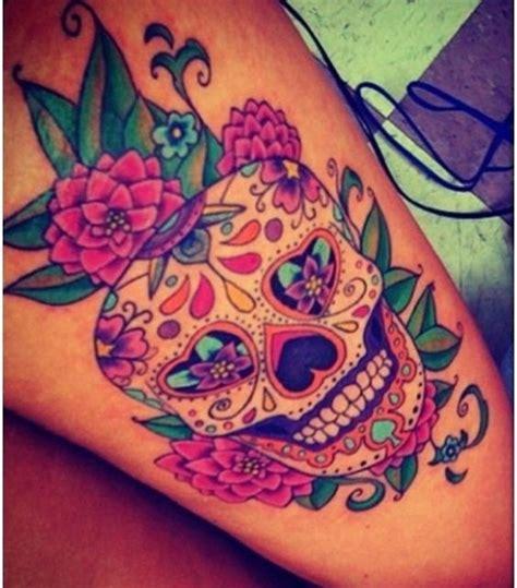 sugar skull tattoo meaning designs flower design