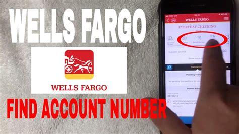 find wells fargo account number  app youtube