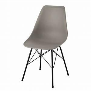 Stuhl Hellgrau : stuhl aus polypropylen und metall hellgrau cardiff ~ Pilothousefishingboats.com Haus und Dekorationen