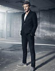 David Beckham Black Suit
