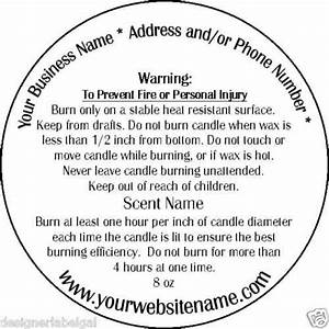 Personalized candle warning labels three sizes for Custom candle warning labels