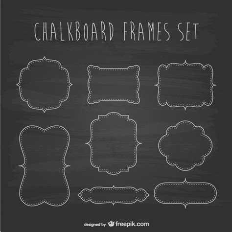 chalkboard logo templates free chalkboard frames set vector free download