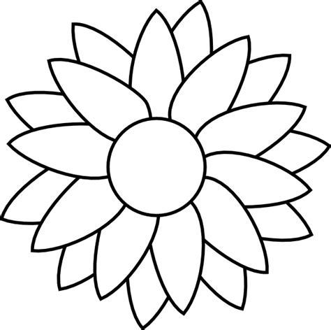 sunflower template flower free rhinestone template downloads sun flower template clip flower stencils