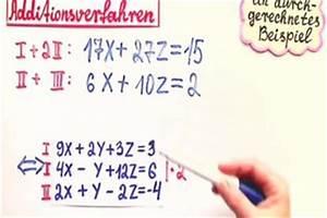 Komplexe Nullstellen Berechnen : video additionsverfahren bei 3 gleichungen so wird 39 s gemacht ~ Themetempest.com Abrechnung
