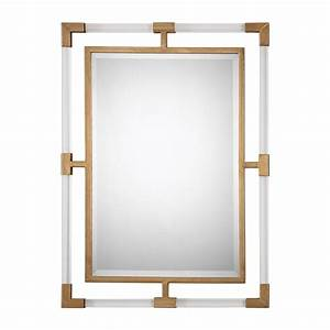 Castle & Crane Balkan Modern Gold Wall Mirror The Mine