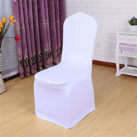 25 50 100 pcs universal white stretch spandex chair cover